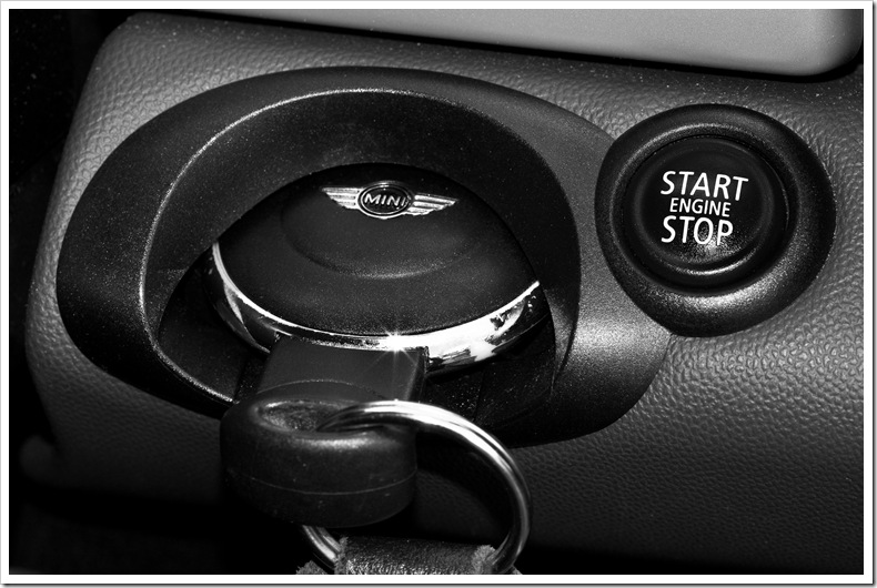mini stop start ignition