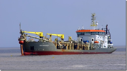beach replenishment dredger