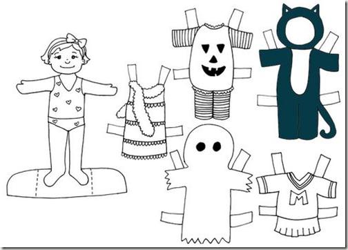 Muñecas de papel para vestir para colorear - Imagui