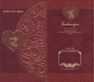 Contoh Desain Undangan Pernikahan Cover Depan