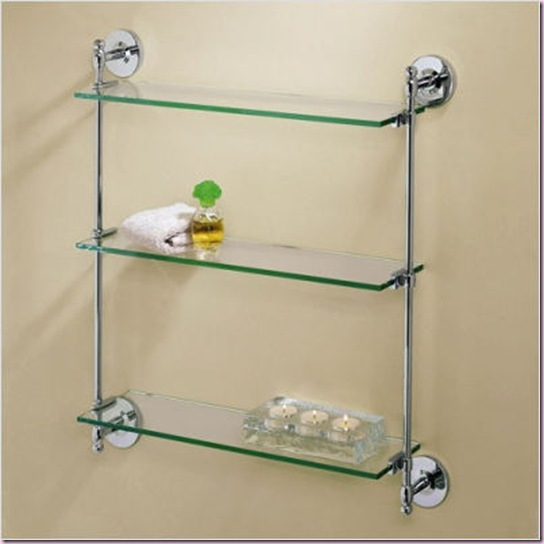 Premier 3-Tier Wall Glass Shelf  in Chrome