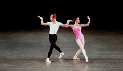 Jeremy Cox & Katia Carranza in SYMPHONY IN THREE MOVEMENTS, photo by Joe Gato