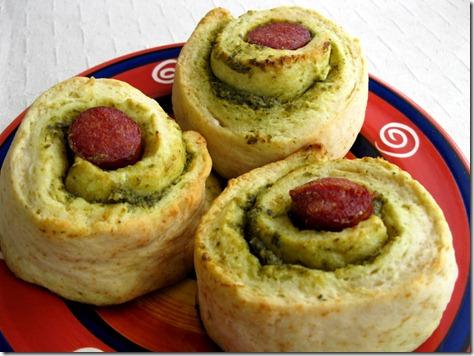 Pesto Chorizo Scrolls
