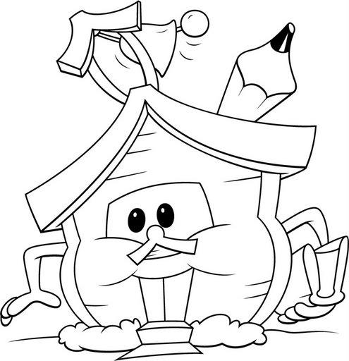 Dibujos de escuelas infantiles para imprimir  Imagui