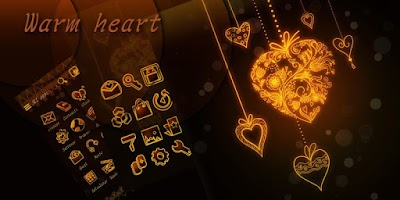 Screenshot of Warm Heart GO Launcher Theme