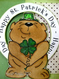 St. Patty Day Bear Close up - DDShop