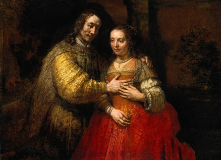 Portrait of Two Figures from the Old Testament (The Jewish Bride), 1667