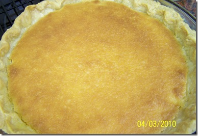 Buttermilk Pie Whole