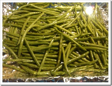 greenbeans and olive oil