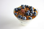 Blueberry and Maple Pecan Granola Parfait