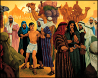 Joseph being Sold into Egypt by Ted Henninger