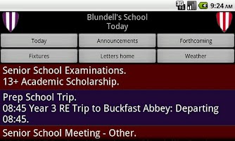 Screenshot of Blundell's School Information