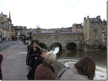 Pulteney Bridge. It is said to be the only three in the world that has shops on top