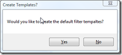 Install Default Filter Templates