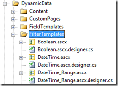 Remove the .designer.cs files from the FilterTemplates folder