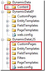 Entity Framework folders