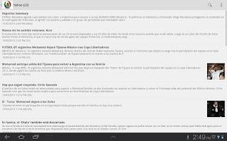 Screenshot of Futbol Mexicano