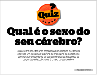 QUIZ - Sexo do cérebro [revista Época]