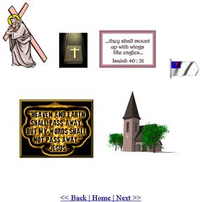 Exemplos de GIFs cristãos em CyberGIFs.com