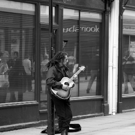 Street Guitarist by Mezei  József Tibor (MJ) - People Musicians & Entertainers ( music, art, guitarist, image, singer, guitar, travel, photo, culture, city )