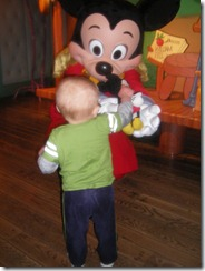 giving mickey to mickey