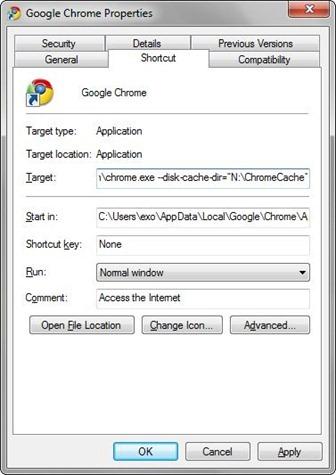 Chrome Cache Folder
