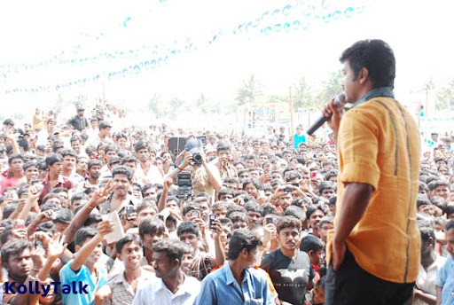 Vijay speaks on the occasion of cow donation