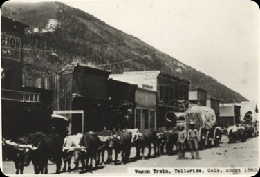 Ross Wagon Train Telluride abt 1880