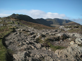 Looking towards Causey Pike and Crag Hill