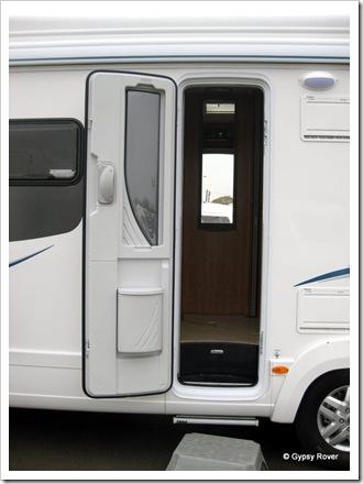 2011 model door. Very fancy.