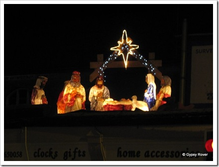 Nativity scene at the top of the town.