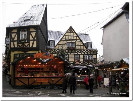 German architecture around Rudesheim.