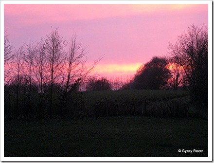 Sunset at Stone Crouch Cottage.