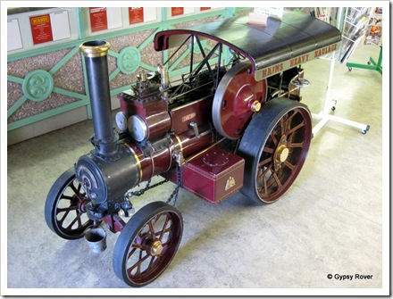 Live steam scale model of a Fowler traction engine.