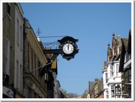 Winchester town clock still chimes curfew at 8pm. A left over from ancient times when the portcullises were lowered for the night.