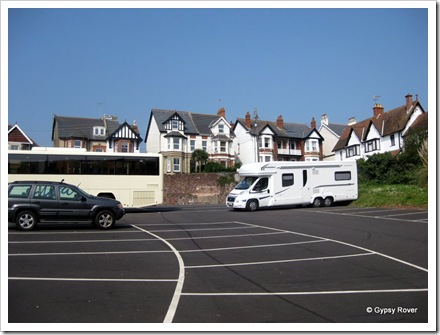 Gypsy Rover MkIV parked next to the coach park at Teignmouth.