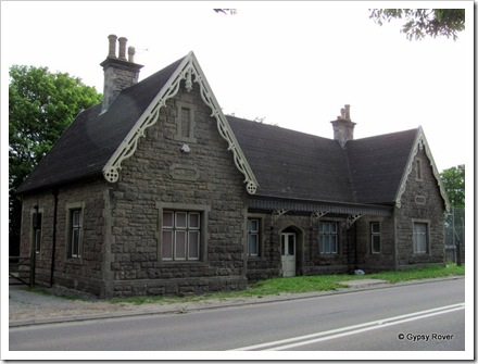 Axbridge railway station. Built in Mendip stone in 1869 for the Bristol Exeter railway. Later to become the GWR.