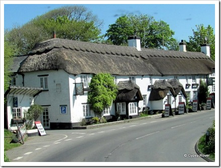 Now that's a lot of thatching. The Hoops Inn on the A361 near Bideford.