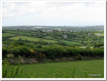 View over Pendryn and Tresaith, North Wales.