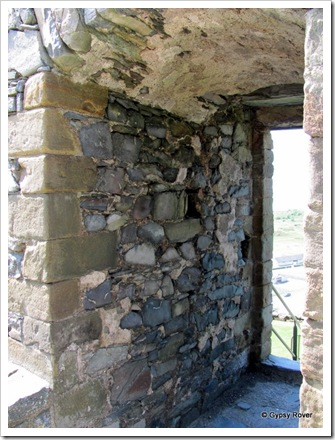External walls 6 foot thick in Harlech castle.