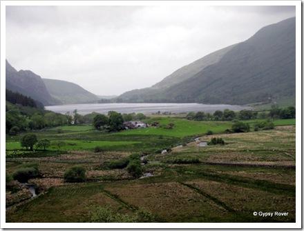 Llyn Cwellyn (reservoir) near Rhyd Ddu  on the Welsh Highland railway.