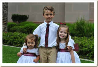 Jackson Sage, Reagan Sage, Madison Sage, Sharon Jordan Beal Wedding
