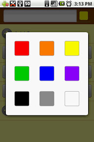 You can choose the color of the note that you are creating. Like post-its.