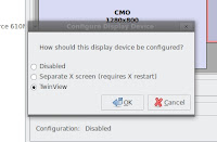 Choose Twin View from the display configuration dialogue