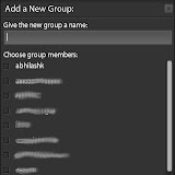 Adding people you follow to Groups is as easy as putting in the name of the group and checking the boxes of the people you want to add to those Groups
