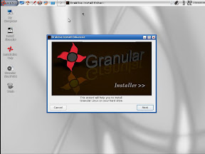 The Granulat linux install wizard
