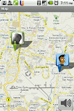 Location shared by both callers shown on the map by Thrutu