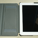 When in the case, the iPad is held securely at all 4 corners. There is minimal invasion of the face of the iPad