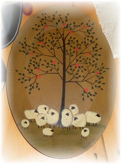 Flock of sheep plate