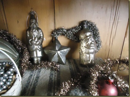 3 mercury glass ornaments